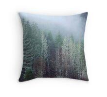 Natures Mossy Flocking Throw Pillow