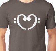 Music Notes White Heart Unisex T-Shirt