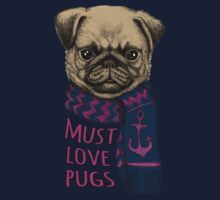 Must Love Pugs Kids Tee