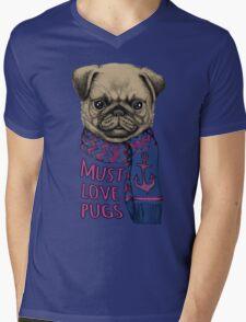 Must Love Pugs Mens V-Neck T-Shirt
