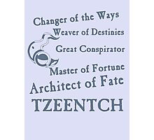 Tzeentch, Architect of Fate Blue Photographic Print