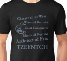 Tzeentch, Architect of Fate Blue Unisex T-Shirt