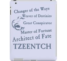 Tzeentch, Architect of Fate Blue iPad Case/Skin