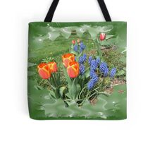 Tulips with Grape Hyacinth Tote Bag
