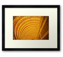 Yep, that's the lobby down there! Framed Print