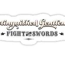 Distinguished Gentlemen Fight with Swords Sticker