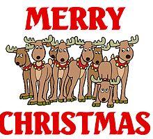 Merry Christmas Reindeers by ArtJunks