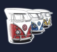 Type 2 Split Bus - Tres Amigos Signed Drawing Print T-Shirt