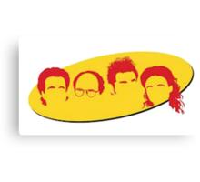 Seinfeld Silhouettes Canvas Print