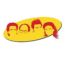 Seinfeld Silhouettes Photographic Print
