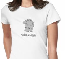 elephants are concerned about the current political climate Womens Fitted T-Shirt