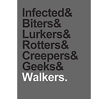 Walkers (Walking Dead) Photographic Print