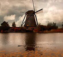 An old windmill by JBlaminsky