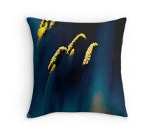Pollen in Blue Throw Pillow