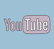 Youtube Logo in PINK! Kids Clothes