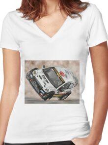 Pat Doran Ford Fiesta Women's Fitted V-Neck T-Shirt