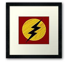 Grunge Lightning Bolt. Framed Print