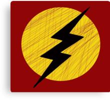 Grunge Lightning Bolt. Canvas Print