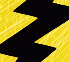 Grunge Lightning Bolt. Sticker