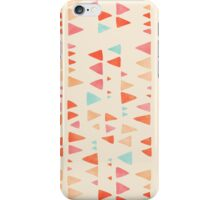 Back & Forth - triangle abstract pattern in peach, aqua & cream iPhone Case/Skin