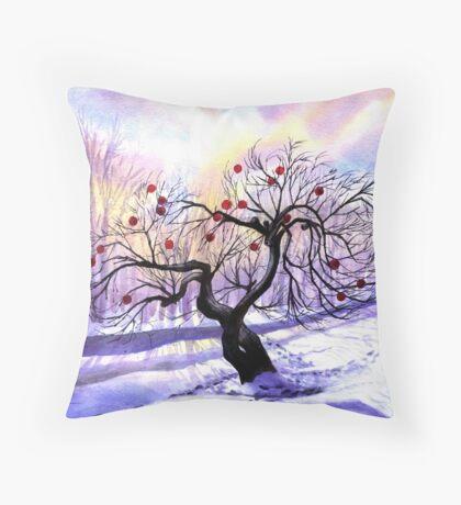 Christmas Apple Tree Throw Pillow