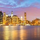 Manhattan Sunset by Justin Foulkes