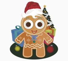 Christmas - Ginger Bread Man One Piece - Long Sleeve