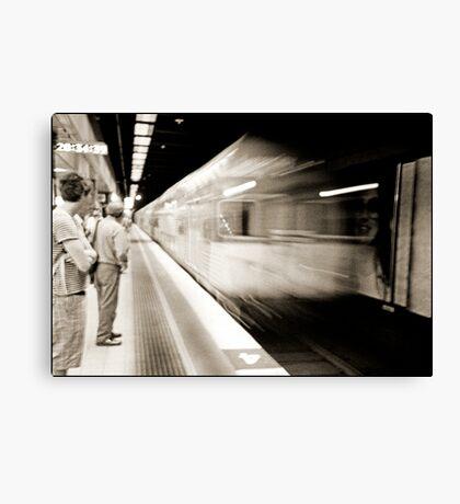 The train cometh..... Canvas Print