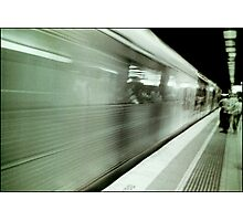 and the train goeth...... Photographic Print