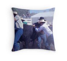Stroppy bull Throw Pillow
