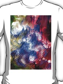 Multi Colored Acrylics Texture T-Shirt