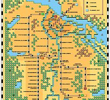 Super Mario Bros 3 Style Amsterdam Metro Network Map by hangman3d