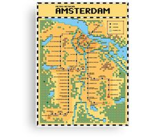 Super Mario Bros 3 Style Amsterdam Metro Network Map Canvas Print