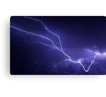 Lightning over Jackson Canvas Print