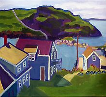 Monhegan Harbor, Maine by brettonarts