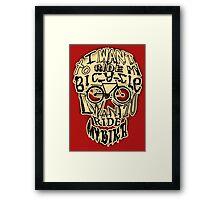 Bicycle Race Skull! Framed Print