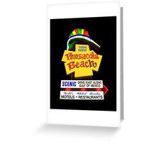 Pensacola Beach Sign Greeting Card