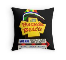 Pensacola Beach Sign Throw Pillow