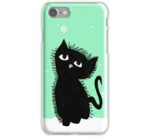 winter kitten snow iPhone Case/Skin