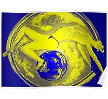 Miss Universe Yellow & Blue 6 of 7 series  Poster
