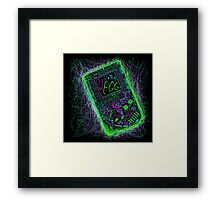 neon punk gameboy Framed Print