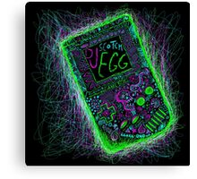 neon punk gameboy Canvas Print