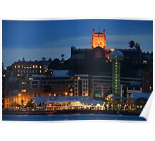 NEWCASTLE AT NIGHT. Poster