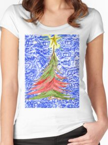 Oh Christmas Tree Women's Fitted Scoop T-Shirt