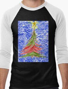 Oh Christmas Tree Men's Baseball ¾ T-Shirt