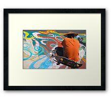 Abstract Skateboarding Framed Print