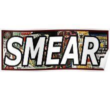 Jean Michel Basquiat Smear Sticker Poster
