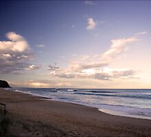 Twilight surf at Bar Beach by Rae Threnoworth