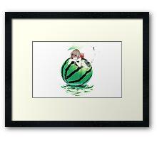 Watermelon girl Framed Print