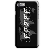 The Bicycle Race 3 White iPhone Case/Skin